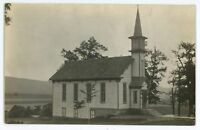 RPPC Church at MOUNTAIN GROVE PA Luzerne County Pennsylvania Real Photo Postcard