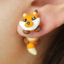 Fox Animal Shaped Stud Earrings For Women Clay Jewelry Gifts Engagement Party