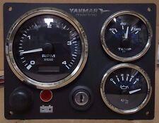B-Type Yanmar Marine Engine Panel ,Black, Fully Wired, Diesel, Black Gauge Kit