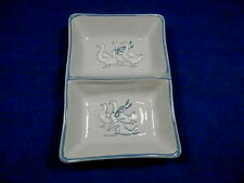 Rectangle Divided Vegetable Serving Dish GAGGLE OF GEESE Gray Louisville (Loc 2)