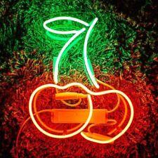 "Cherries Neon Light Sign Lamp Acrylic 14"" Beer Pub Bedroom Glass Gift Artwork"