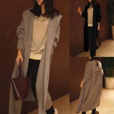 Women's Knitted Hooded Cardigan Casual Long Sleeve Loose Sweater Jumper Outwear