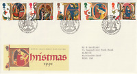 12 NOVEMBER 1991 CHRISTMAS ROYAL MAIL FIRST DAY COVER BUREAU SHS (a)
