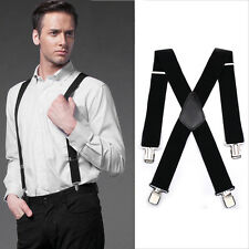 HEAVY DUTY ELASTICATED MOTORCYCLE RIDER TROUSER BRACES BELT MOTORBIKE LEATHER UK