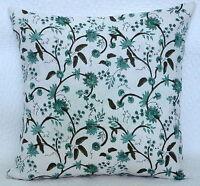 Indien Handmade Coton Bloc Imprimé Housse de Coussin Floral Style Oreiller Boho