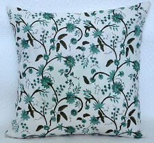 Indian Handmade Cotton Block Print Cushion Cover Floral Style Pillow Case Decor