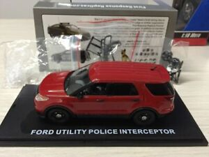 First Response Replicas Ford Utility police Interceptor Red 1/43 Scale Suv Car
