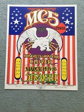 Mc5 Rock Concert Poster Straight Theatre 1969 Grimshaw Signed Ltd 3rd Printing