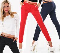 Italia Mujer Pantalones Chinos Pantalón de tela negocio del estiramiento LUNARES