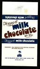 Terry's Milk Chocolate vintage chocolate bar wrapper Dual Price confectionery