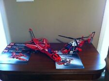 2 Retired LEGO TECHNIC sets- JET PLANE (set 9394) & RESCUE HELICOPTER (set 8068)