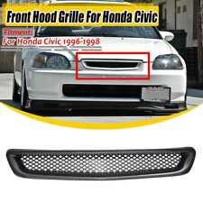 Capucha De Fibra De Carbono Delantero Parrilla De Malla Rejilla ABS para 96-98 Honda Civic Ek Jdm CX DX