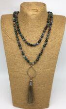 Fashion Long Knot Beads Halsband India Agate long Tassel Necklace Handmade