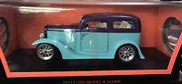 Road Signature 1931 Ford Model A Sedan Light Green/purple 1/18 Scale Diecast Car