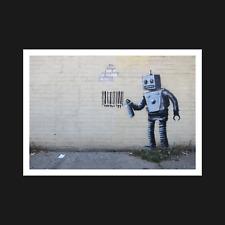 Banksy Print / Poster - Robot Barcode Graffiti - Wall Art Decor - A5 A4 A3