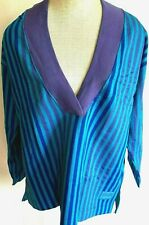 Vintage 80s Deadstock Gloria Vanderbilt Greece Striped Oversized Sweatshirt 1XL