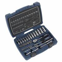 """Sealey AK8990 Socket Set 33pc 1/4""""Sq Drive 6pt WallDrive® Metric"""