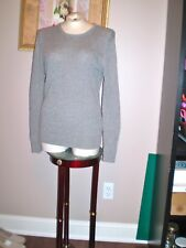 ISAAC  MIZRAHI 100% CASHMERE CABLE KNIT SWEATER SIZE L EXCELLENT