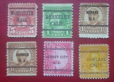 USA unused 6 Classic Stamps MNH/MH Overprinted RARE