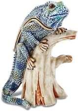 Bejeweled Iguana auf Zweige Schmuckkästchen