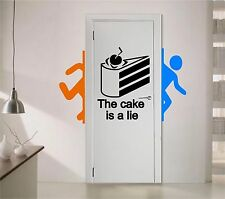 Vinyl Wall Decal. Sticker. Portal The cake is a lie (22in x 15in)