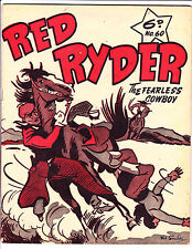 "Red Ryder No 60 1950's -Australian-""Man Knocked Off Horse Cover ! """