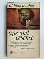 Ape and Essence by Aldous Huxley, 1st Bantam Edition / 1st Printing, 1958, A1793