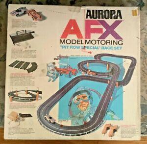 Vintage Aurora AFX Pit Row Special Sot Car race track Lot box Decals Trestles