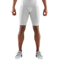 Skins Mens DNAmic Ultimate Cooling Half Tights Bottoms Pants Trousers White
