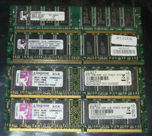 1GB 2GB 4GB KINGSTON DDR1 266 333 400MHz RAM PC3200 PC2700 PC2100 184-pol.