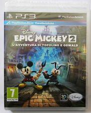 EPIC MICKEY 2  L'AVVENTURA DI TOPOLINA E OSVALD PS3 SONY PLAYSTATION 3 ITA PAL