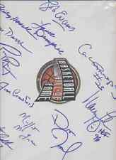 12 HALL OF FAME MEMBERS AUTOGRAPHS -  Signed ON CANVAS BOARD By 12