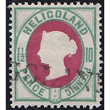 Helgoland Nr. 14 e gestempelt geprüft