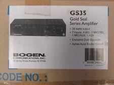 Bogen Model Gs-35 Gold seal series Amplifier Mic Channel