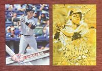 Lot of (2) 2017 Topps Update Fire AARON JUDGE Rookie #US99 Gold Insert M-24 RC🔥