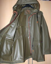 NEW! Woman's Rain Jacket Coat Rubber PVC PU Parka 44 / UK 16 / Large NEW!