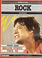 Magazine ROCK en stock n° 54/55 + Poster ROLLING STONES hagen pink floyd +insert