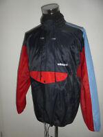 rare vintage 80s Adidas Regenjacke Nylon Jacke oldschool glanz 80er Jahre D8 XL