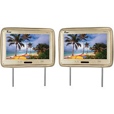 "Tview T122PLTAN 12.1"" Headrest Monitor Ir Transmitter Remotes Tan Pair"