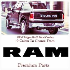 2016-17 Dodge Ram Rebel 4X4 Limited Tailgate Decals Overlays New OEM 9 Colors//
