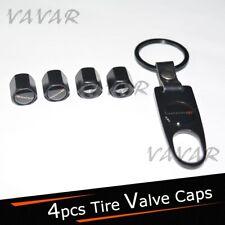 4pcs DODGE Logo Emblem Black Car Wheel Tire Valve Dust Stems Air Caps Keychain