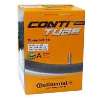 Continental Fahrradschlauch Compact mit Auto Ventil 16 Zoll 32-47/305-349 A34