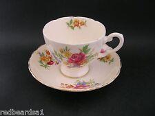 Plant Tuscan Vintage Art Deco English China Tea Cup & Saucer Pink Floral Rose