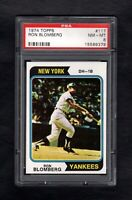 1974 TOPPS #117 RON BLOMBERG YANKEES PSA 8 NM/MT CENTERED!