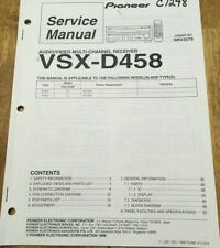 PIONEER VSX-D458 AUDIO MULTI-CHANNEL RECEIVER ORIGINAL SERVICE REPAIR MANUAL
