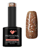 403 VB™ Line Brown Silver Glitter - UV/LED soak off gel nail polish