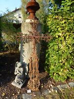 Nr.3754 Altes Grabkreuz Feldkreuz Wegkreuz Kreuz mit Heiligenfiguren antik