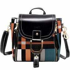 DASTI Checkered Anti Theft Purse Small Mini Backpack Convertible Purse Black