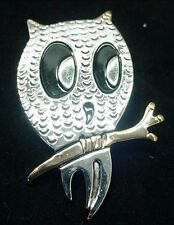 Metal Owl Combination Slide Pendant Brooch Pin Lot Of 3