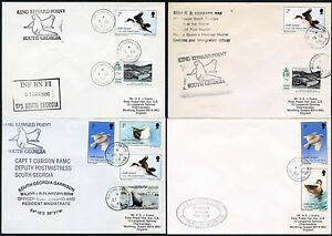 FALKLAND Is SOUTH GEORGIA GARRISON TROOPS BIRDS FRANKINGS SHIP BISCOE...4 COVERS